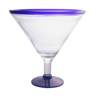 25 Oz Blue Rim Martini
