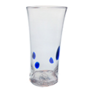 4 Blue Dot Beer Glass