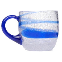 Blue Swirl Punch Cup