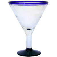 12 Oz Blue Rim Martini