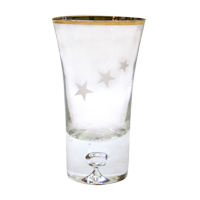 Gold Rim Star Shot Glass