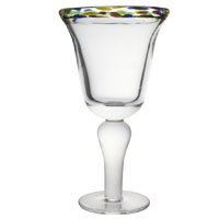Multi Color Rim Goblet