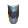 pewter red string vase large