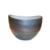 pewter red string vase small