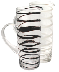 Black or White Swirled Pitcher