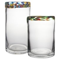 Multi Color Rim Glass